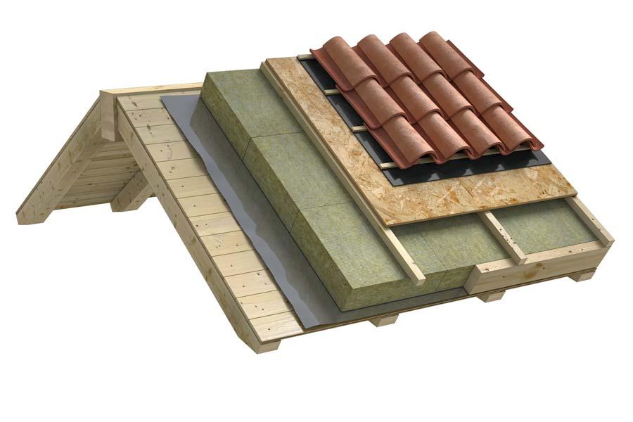 Estradosso ventilato con pannelli sottoposti a carico - Tetto in legno