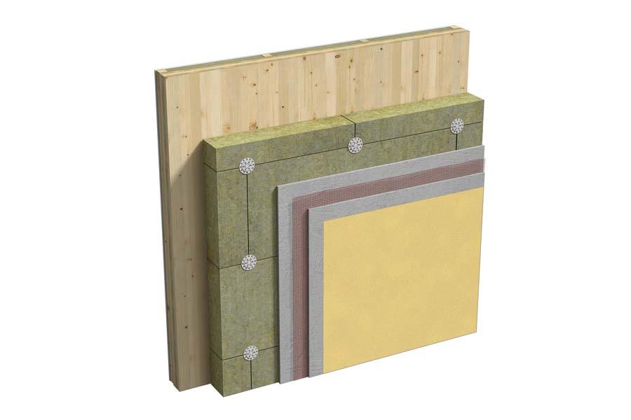 Pareti perimetrali in legno con sistema XLAM