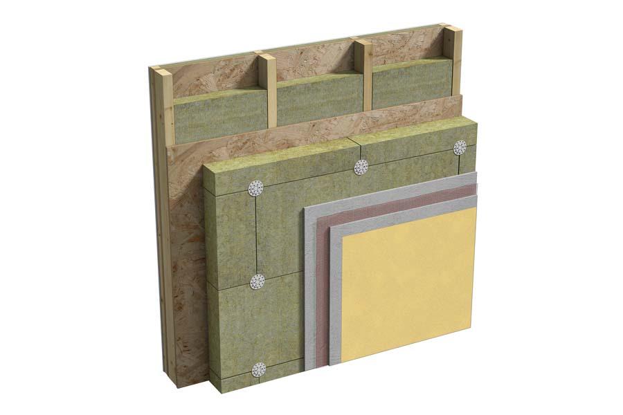 Pareti perimetrali in legno con sistema a telaio