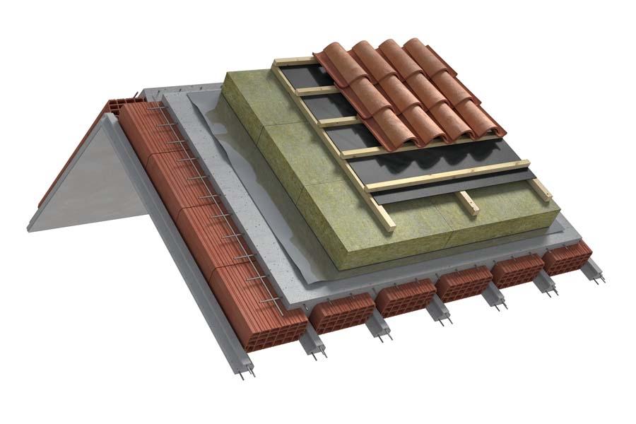 Estradosso ventilato con pannelli sottoposti a carico - Solaio in laterocemento